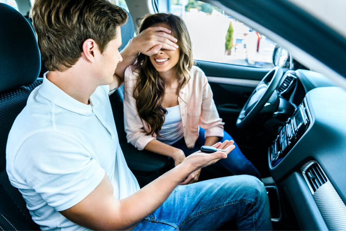 """Couple has purchased a """"Fresh Like New"""" odour free used car from a dealership."""