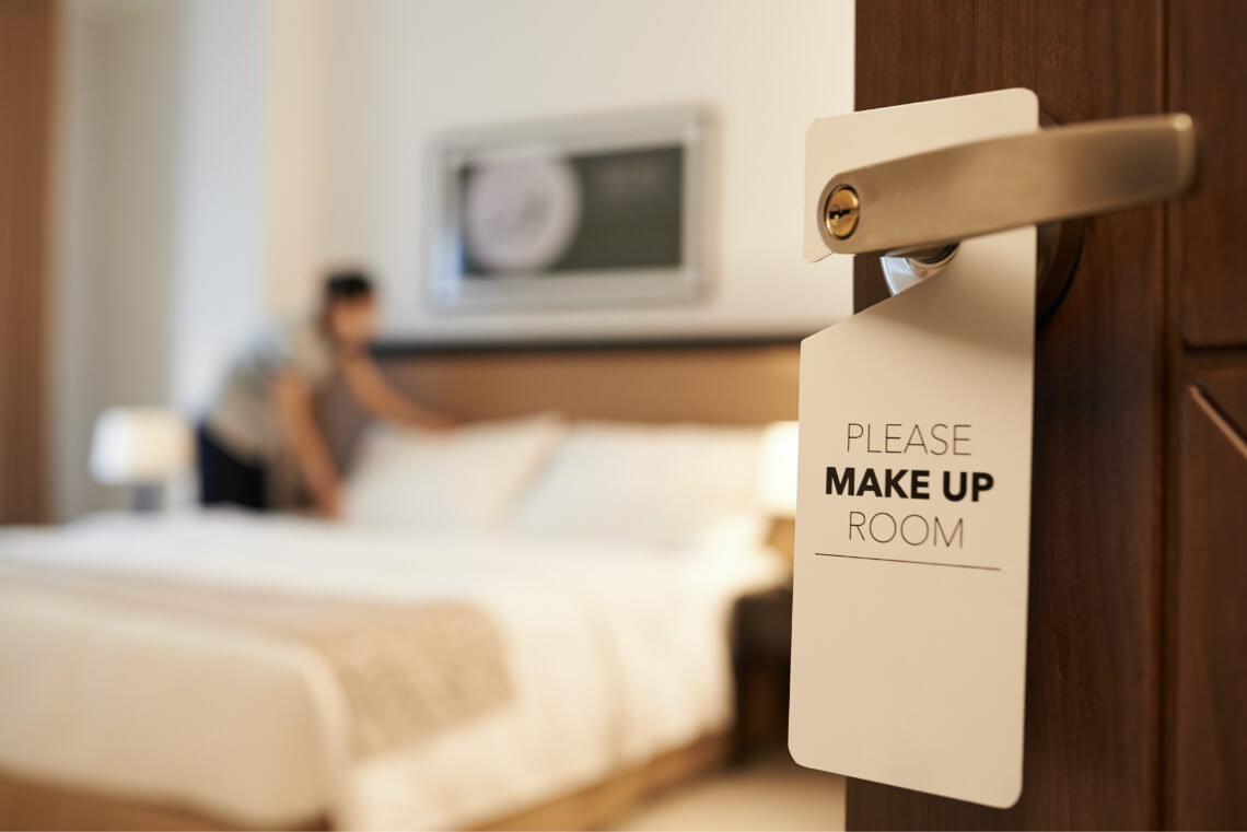 Hotel / Motel / Bed & Breakfast making sure rooms are sanitized and odour free for their customer's satisfaction.