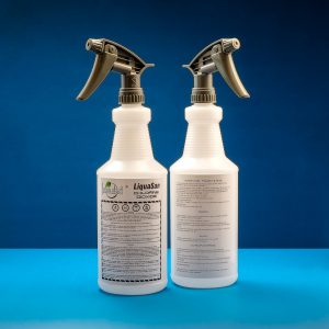 Commercial spray bottles with labels
